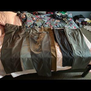 Lot of 6 pairs of men's slacks
